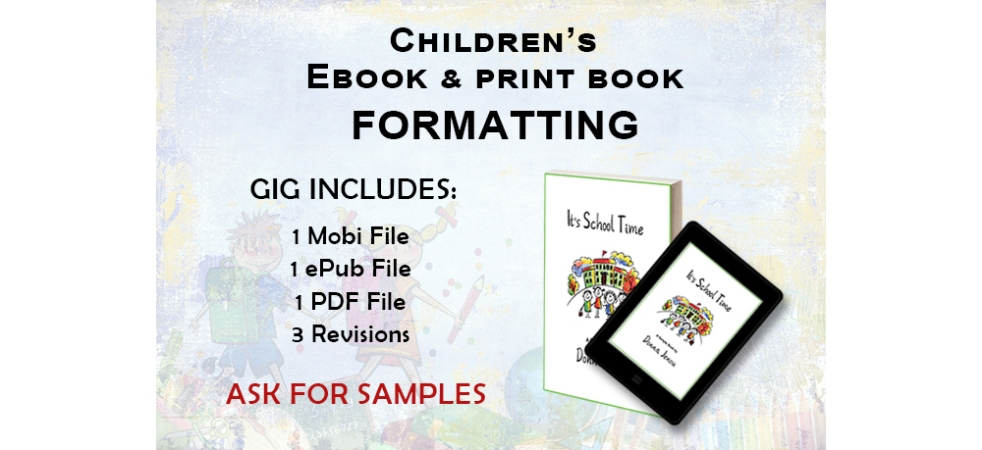 Children's Ebook and Print Book Formatting