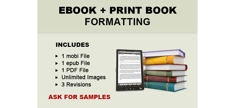 Ebook and Print Book Formatting