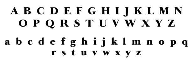 Example of Fancy Font